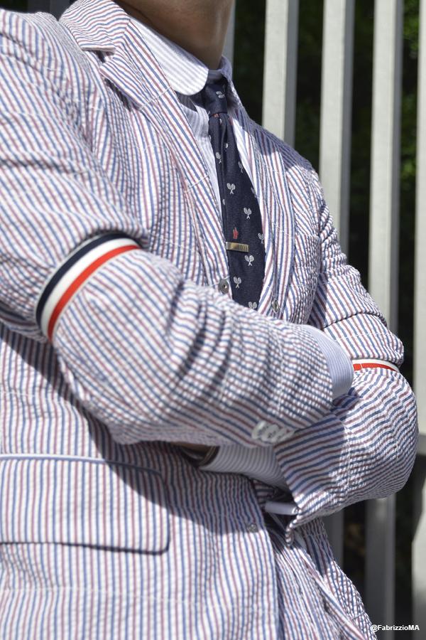 Thom Browne stripes suit